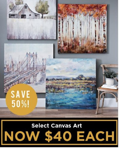 Save 50% on Select Canvas Art from Kirkland's Home