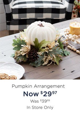 $29.97 Pumpkin Arrangement from Kirkland's