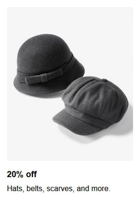 20% Off Hats, Belts, Scarves and More from macy's