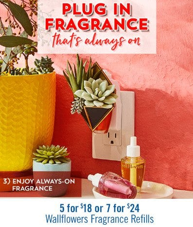 5 for $18 or 7 for $24 Wallflowers Fragrance Refills from Bath & Body Works/White Barn