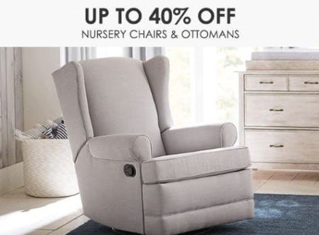 Up to 40% Off Nursery Chairs & Ottomans