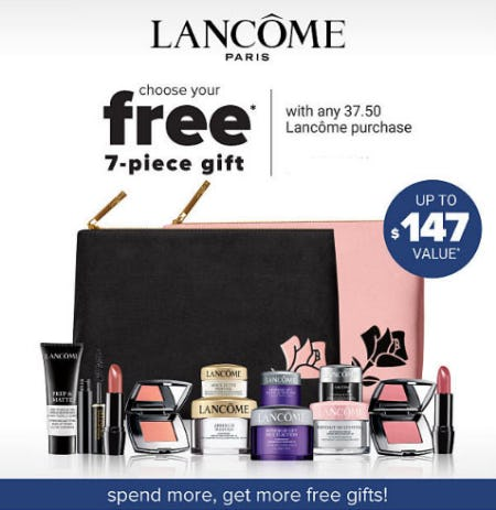 Free 7-Piece Gift with Lancome Purchase from Belk