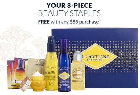 Your 8-Piece Beauty Staples Free With Any $85 Purchase from L'Occitane