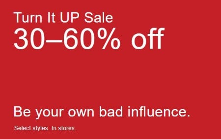 Turn It Up Sale 30–60% Off from Aritzia