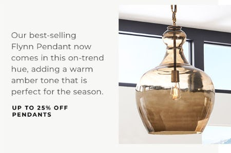 Up to 25% Off Pendants from Pottery Barn
