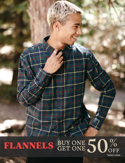 BOGO 50% Off Flannels from Tillys