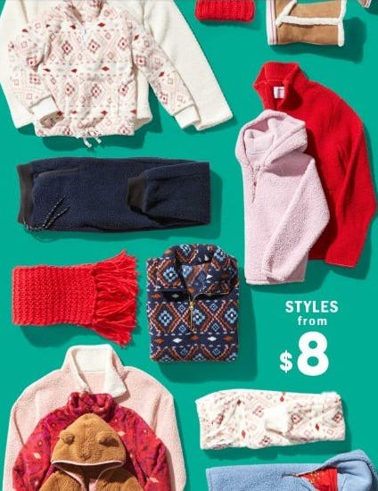 Styles from $8 from Old Navy
