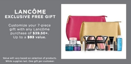 Sale at Lord & Taylor. Lancome Exclusive Free Gift