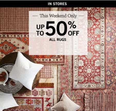 Up to 50% Off All Rugs