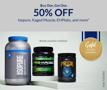 BOGO 50% Off Isopure, Kaged Muscle, EHPlabs, and More