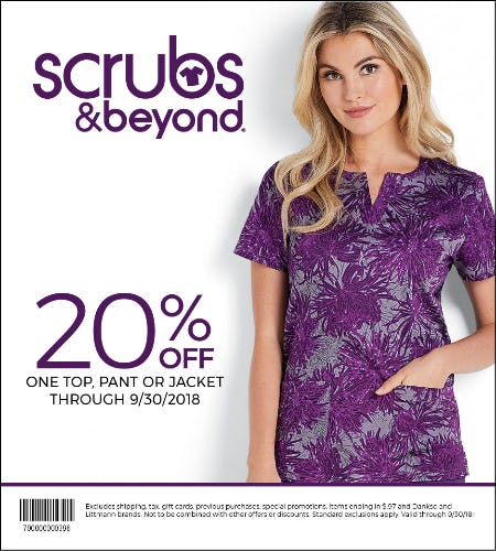20% Off Coupon from Scrubs & Beyond