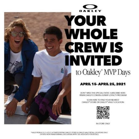 The Oakley Spring Friends and Family Event from Oakley