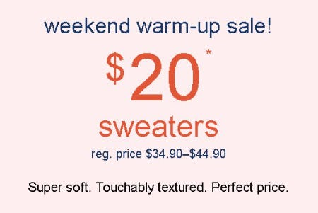 $20 Sweaters from maurices