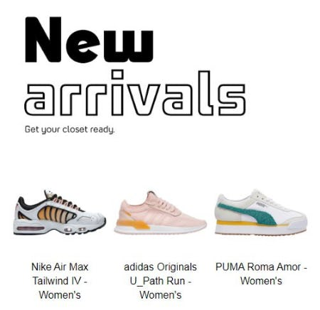 Shop New Arrivals from Lady Foot Locker