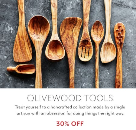 30% Off Olivewood Tools from Sur La Table
