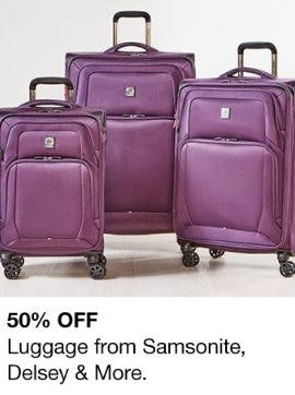 50% Off Luggage from Samsonite, Delsey & More