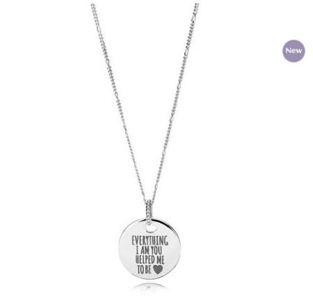 Everything I Am You Helped Me To Be Disc Necklace from PANDORA