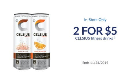 2 for $5 Celsius Fitness Drinks from The Vitamin Shoppe