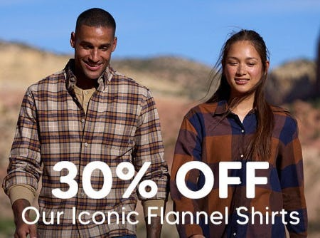 30% Off Our Iconic Flannel Shirts from Eddie Bauer