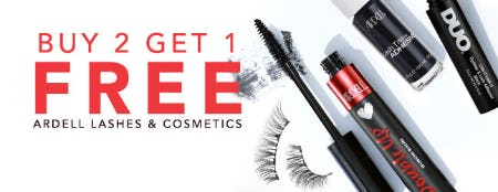 Buy 2 Get 1 Free Ardell Lashes & Cosmetics