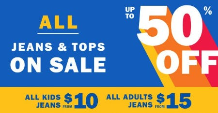 All Jeans & Tops on Sale up to 50% Off from Old Navy