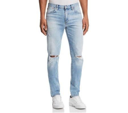 Agolde Blade Skinny Fit Jeans in Cash Blue