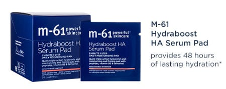 M-61 Hydraboost HA Serum Pads from Bluemercury