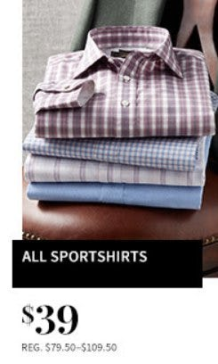 All Sportshirts $39 from Jos. A. Bank