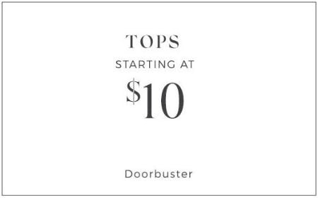 Doorbuster Tops Starting at $10