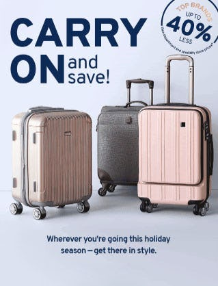 Up to 40% Less Luggage from Marshalls
