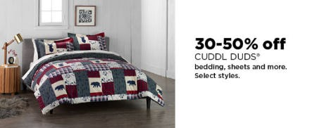 30-50% Off Cuddl Duds from Kohl's