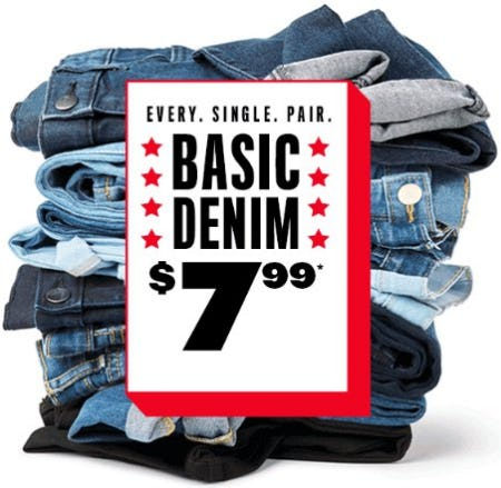 Basic Denim $7.99