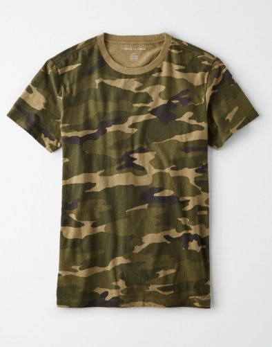 AE Slub Camo T-Shirt from American Eagle Outfitters