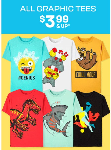 All Graphic Tees $3.99 and Up from The Children's Place Gymboree