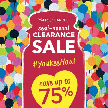 It's time for our Semi-Annual Sale! from Yankee Candle