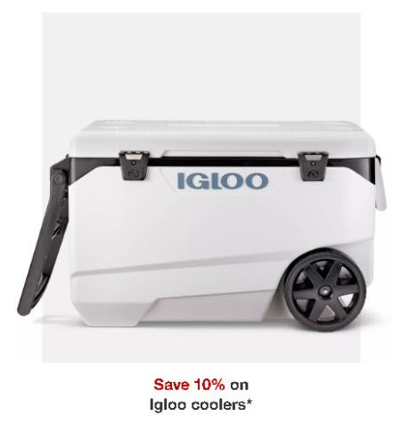 Save 10% on Igloo Coolers from Target