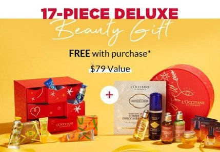 17-Piece Deluxe Beauty Gift Free With Purchase