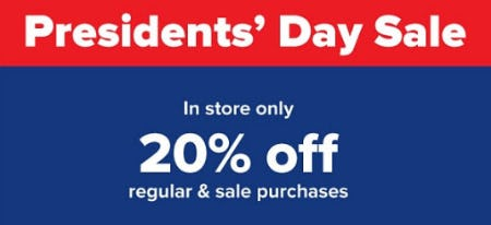 20% Off Regular & Sale Purchases from Belk