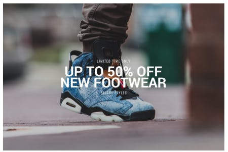 Up to 50% Off New Footwear from DTLR