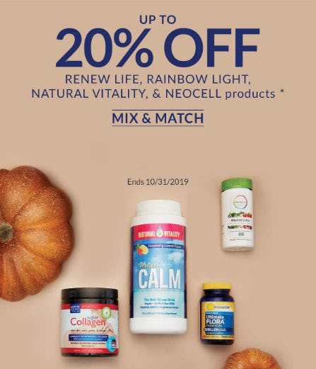 Up to 20% Off Renew Life, Rainbow Light Products & More