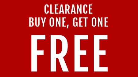 Clearance Buy One, Get One Free