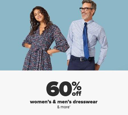60% Off Women's & Men's Dresswear from Belk