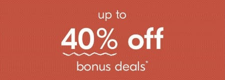 Up to 40% Off Bonus Deals from West Elm