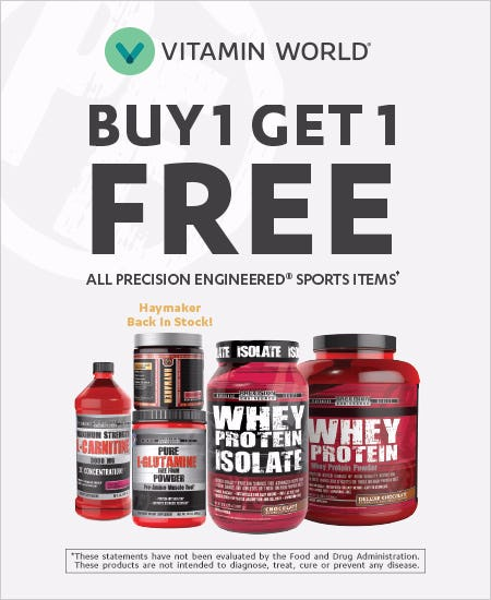 Buy 1 Get 1 Free All Precision Engineered Sports Items