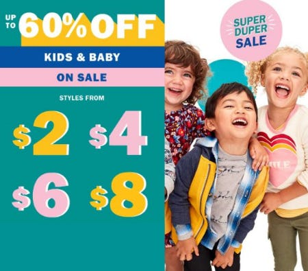 Up to 60% Off All Kids & Baby