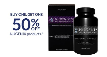 BOGO 50% Off Nugenix Products