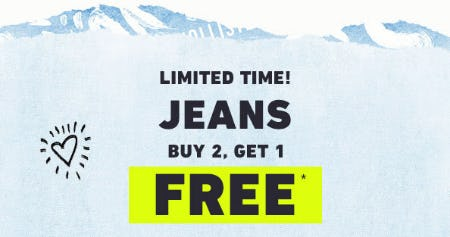 B2G1 Free Jeans from Hollister Co.