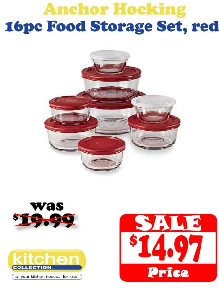 $5 Off Glass Storage Set from Kitchen Collection