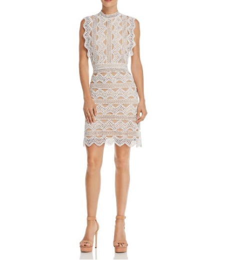 Lucy Paris Scalloped Lace Sheath Dress from Bloomingdale's