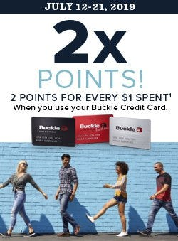 Buckle Credit Card Double Points from The Buckle